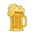 glass of beer with foam icon image vector image