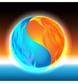 Glowing Zen sphere vector image