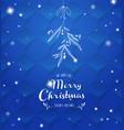 handwritten christmas with hanging mistletoe vector image vector image