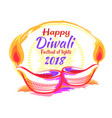 happy diwali festival 2018 on vector image