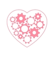 Heart with gears inside vector image vector image