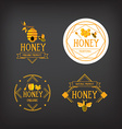 Honey label design Bee badge vector image vector image