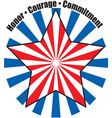 Honor Courage Commitment vector image vector image