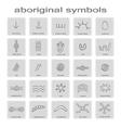 icons with symbols of australian aboriginal art