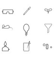 laboratory icon set vector image vector image