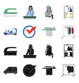 laundry and clean sign set vector image vector image