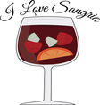 Love Sangria vector image