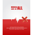 Medical with infographic elements vector image vector image