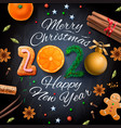 merry christmas happy new year 2020 background vector image vector image