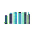 minimal skyscrapers commercial architectural vector image