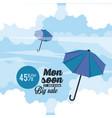 monsoon big sales and discounts vector image