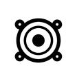 Music speaker technology vector image