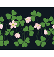 Oxalis pattern vector image vector image