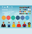 people of different occupations professions set vector image vector image