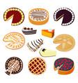 pie cakes fresh tasty dessert sweet pastry vector image vector image