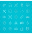 Programming Line Icons vector image vector image