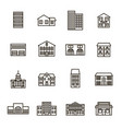 property house signs black thin line icon set vector image vector image