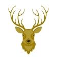 reindeer head vector image