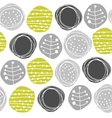 Retro pattern circles vector image vector image