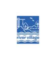 river-village-logo vector image vector image