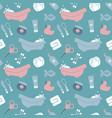 seamless background on theme baby bathing