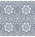 seamless pattern damask lacy ornament with vector image
