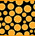 seamless pattern with sliced oranges background vector image vector image