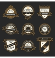 Set of Monochrome Label Logo and Badge vector image vector image