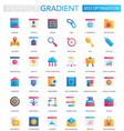 set trendy flat gradient seo vector image