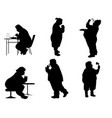 silhouettes of full people vector image