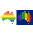 spectrum pixel dotted australia map vector image