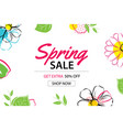 spring sale poster template with colorful flower vector image
