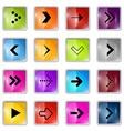 Square Arrows Set vector image vector image