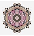 Stylized Oriental Print Mandala like Symmetrical vector image vector image