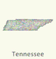 Tennessee line art map vector image vector image
