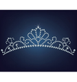 Tiara made a lot of diamonds vector image