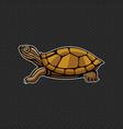 turtle logo design template head icon vector image