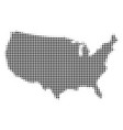 usa map halftone icon vector image