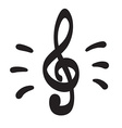 Violin key icon hand drawn icon vector image