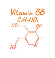 vitamin b6 label and icon chemical formula and vector image vector image