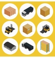 warehouse icon set isometric vector image