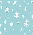 winter forest seamless pattern christmas tree vector image vector image