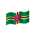 dominica flag vector image