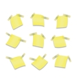 Yellow stick note isolated on white background vector image