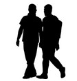 silhouettes of gay men holding hands vector image