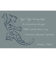 tiger Poems of William Blake Color card vector image