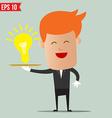 Waiter idea service - - EPS10 vector image