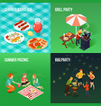 family picnic isometric concept