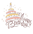 Abstract - cake and birthday vector image vector image