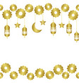 arabic golden seamless pattern whit half moon vector image